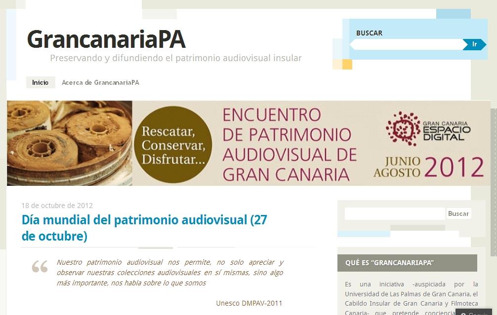 GrancanariaPA y el patrimonio audiovisual insular