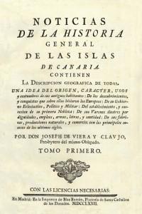 José de Viera y Clavijo en la Memoria digital de Canarias (mdC)