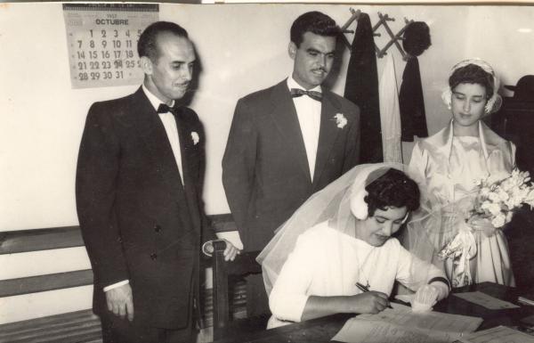 Boda de Adela García Morera y José Viera Montenegro. 1969