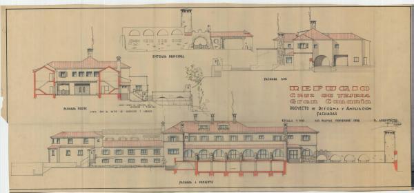 lzado del proyecto de reforma y ampliación del Albergue Turístico de la Cruz de Tejeda. 1957