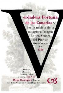"""Cubierta del libro de la """"Verdadera fortuna de las Canarias"""""""
