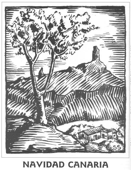 Navidad canaria, ilustración de Santiago Santana