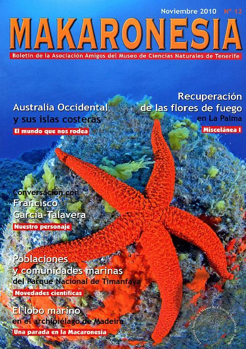 Makaronesia, el boletín de la Asociación Amigos del Museo de Ciencias Naturales de Tenerife
