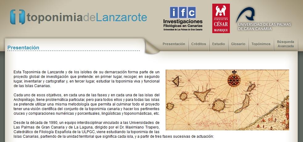 Toponimia de Lanzarote