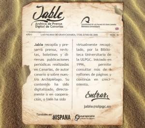 Archivo de prensa canaria Jable
