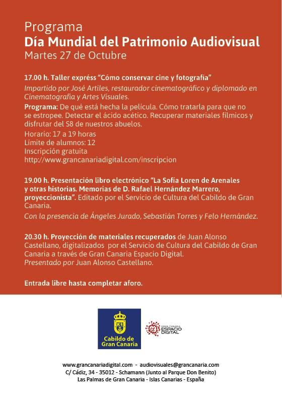 Programa DIa Mundial del Patrimonio Audiovisual