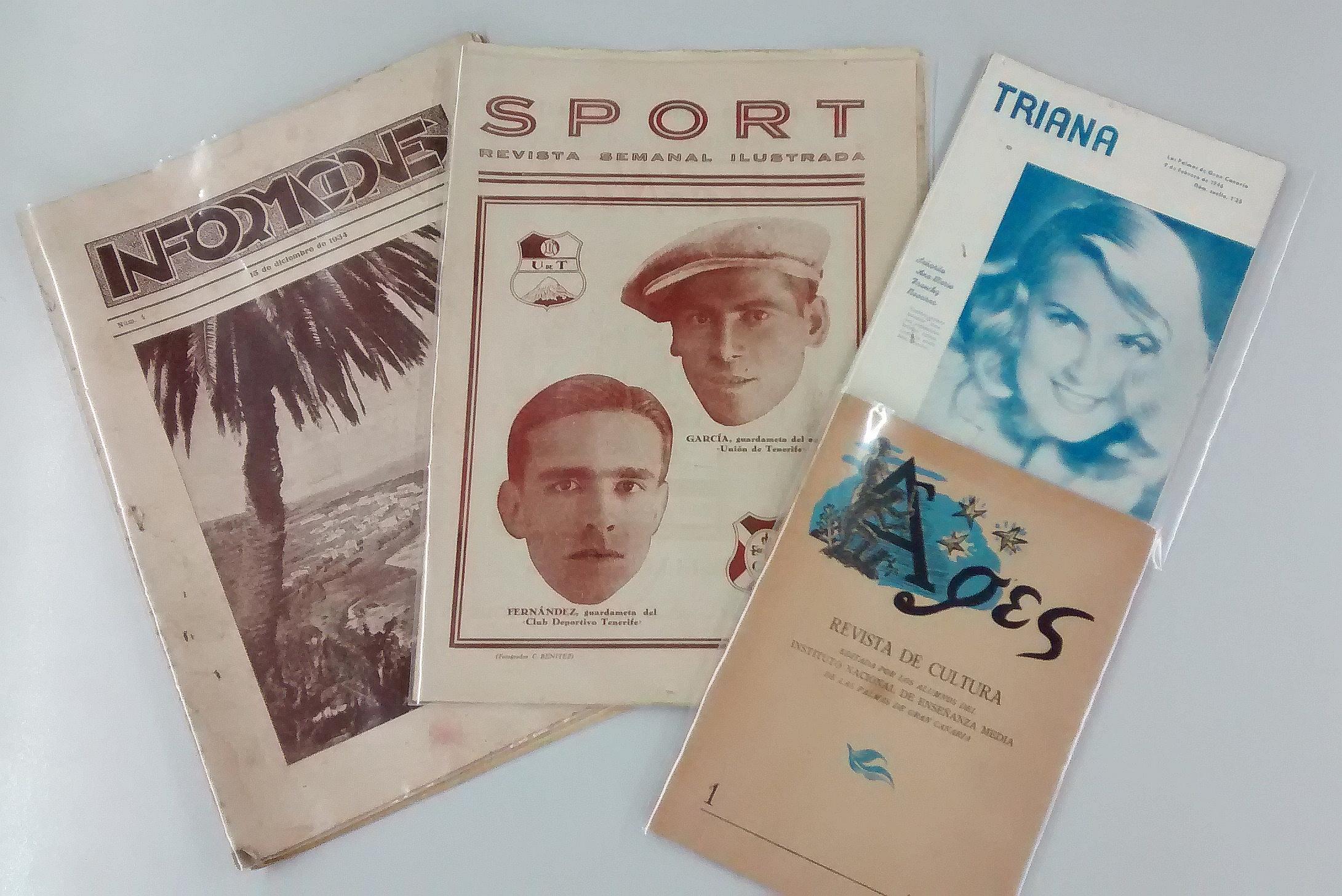 """""""Triana"""", """"Sport"""", """"Informaciones"""" y """"Ages"""": más revistas canarias en JABLE"""