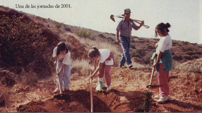 Voluntariado en 2001. Educación ambiental