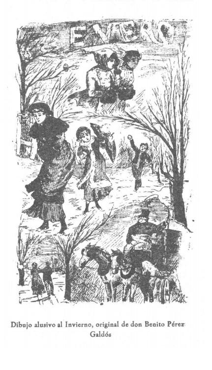 Ilustración de Pérez Galdós del invierno