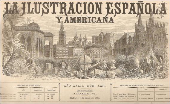 Portada de la Revista La llustración Española y Americana