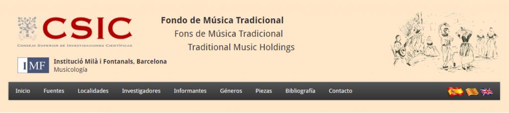 Portal digital del Fondo de musical Tradicional csic