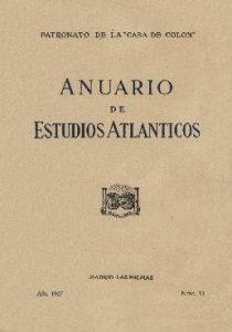 Portada del nº 1 del Anuario de Estudios Atlánticos