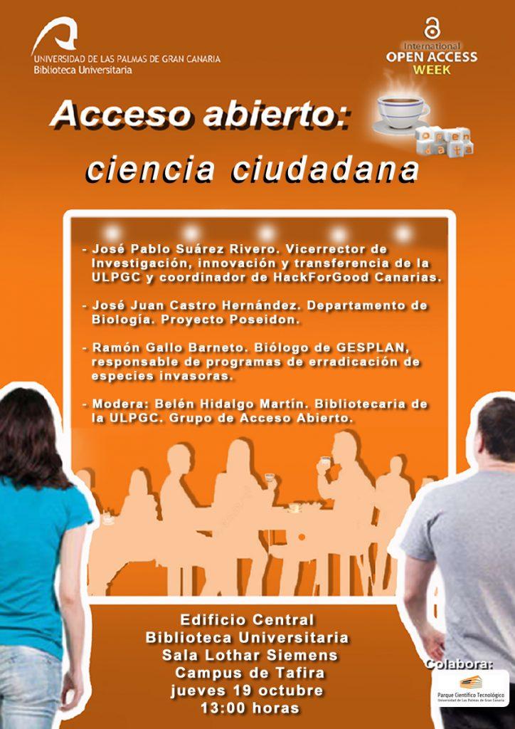 Cartel Acceso Abierto Biblioteca Universitaria 2017 ULPGC